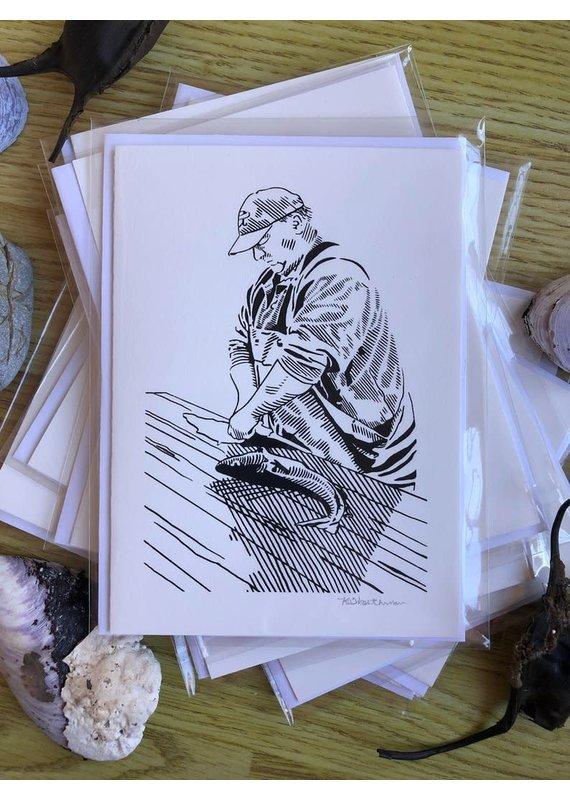 Krissie Worthman Art KW Art-Clifford Gutting Fish