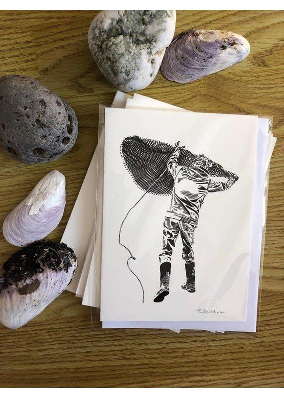 Krissie Worthman Art KW Art-Throwing a Cast Net