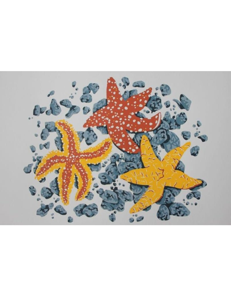 Krissie Worthman Art KW Art-Limited Edition Three Starfish