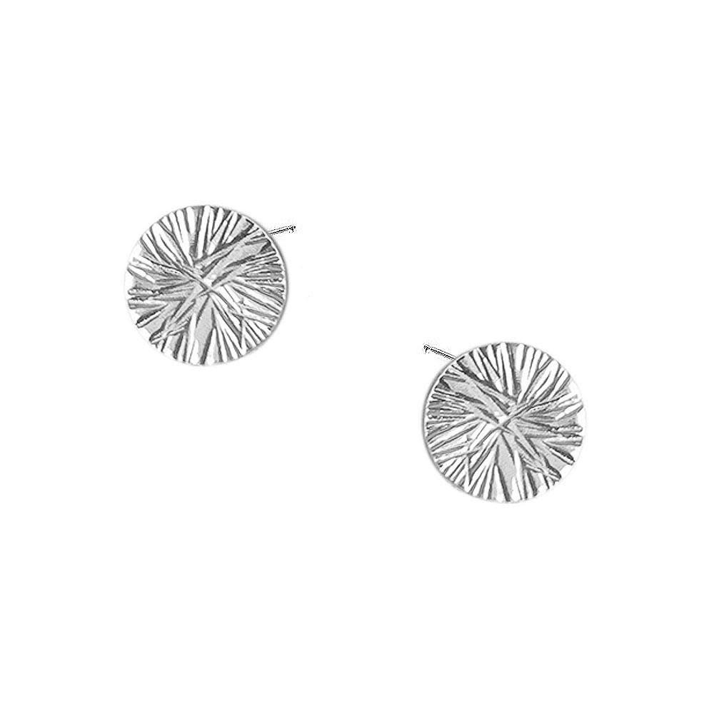Strut Jewelry Strut-Full Circle Textured Studs