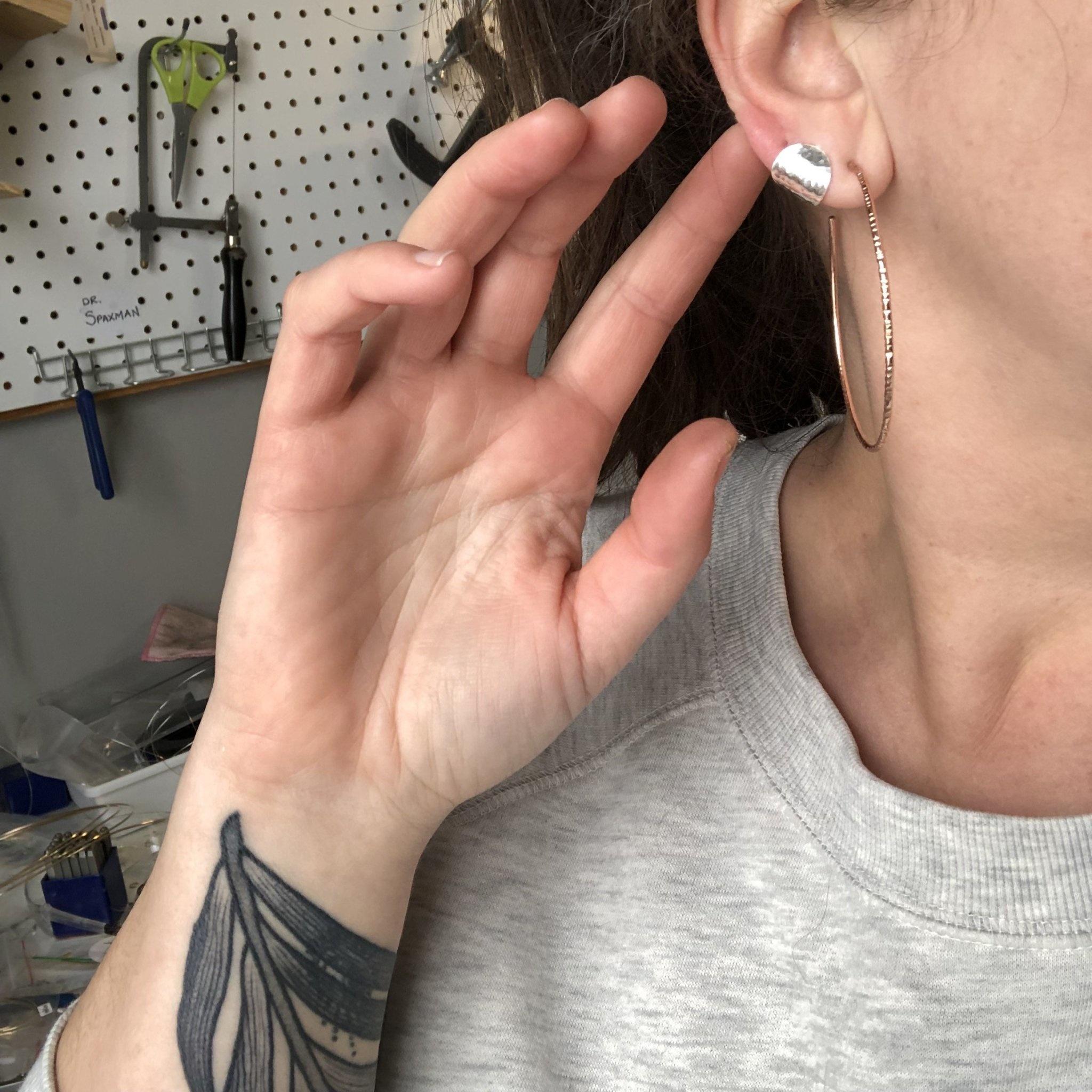 Strut Jewelry Strut-Ear Cuff Studs-SS
