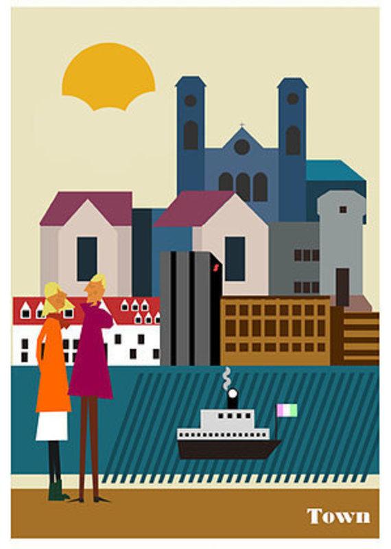 Frank Fagan (JUNK) Junk Poster-Town-12x18