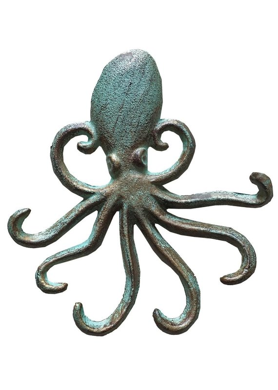 North American Country Home NACH-Ocean Octopus-Green