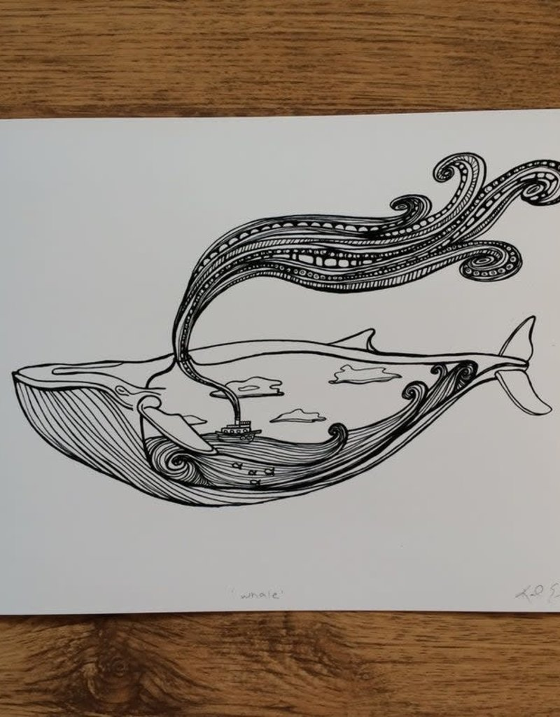 Kaila Erb Art&Illustration Kaila Erb-Whale