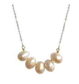 Strut Jewelry Strut-Large pearl necklace-ygf
