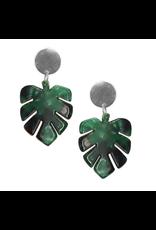 Strut Jewelry Strut-Lucite Monstera Leaf Earring