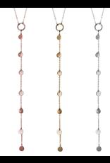 Strut Jewelry Strut-silver dots lariat necklace