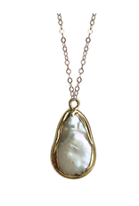 Strut Jewelry Strut-lrg electroplated pearl pendant