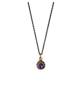 Pyrrha Pyrrha-Faceted Stone Necklace-Amethyst-SM