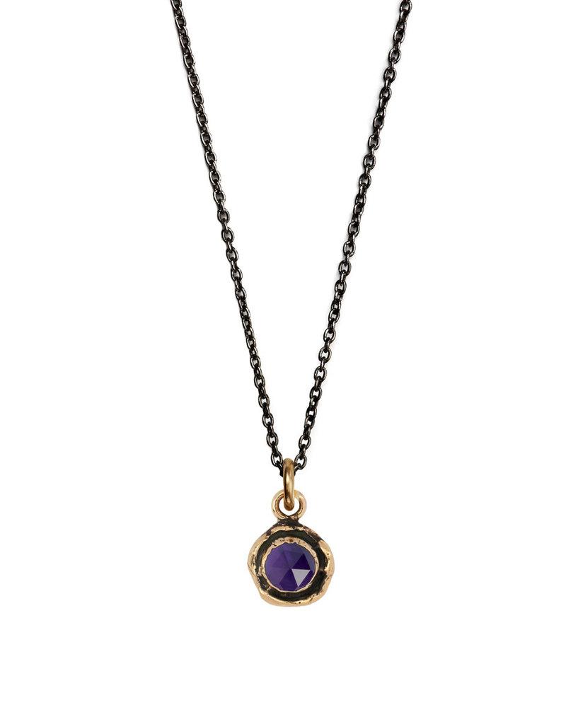 Pyrrha Pyrrha-Faceted Stone Necklace-Amethyst-SM