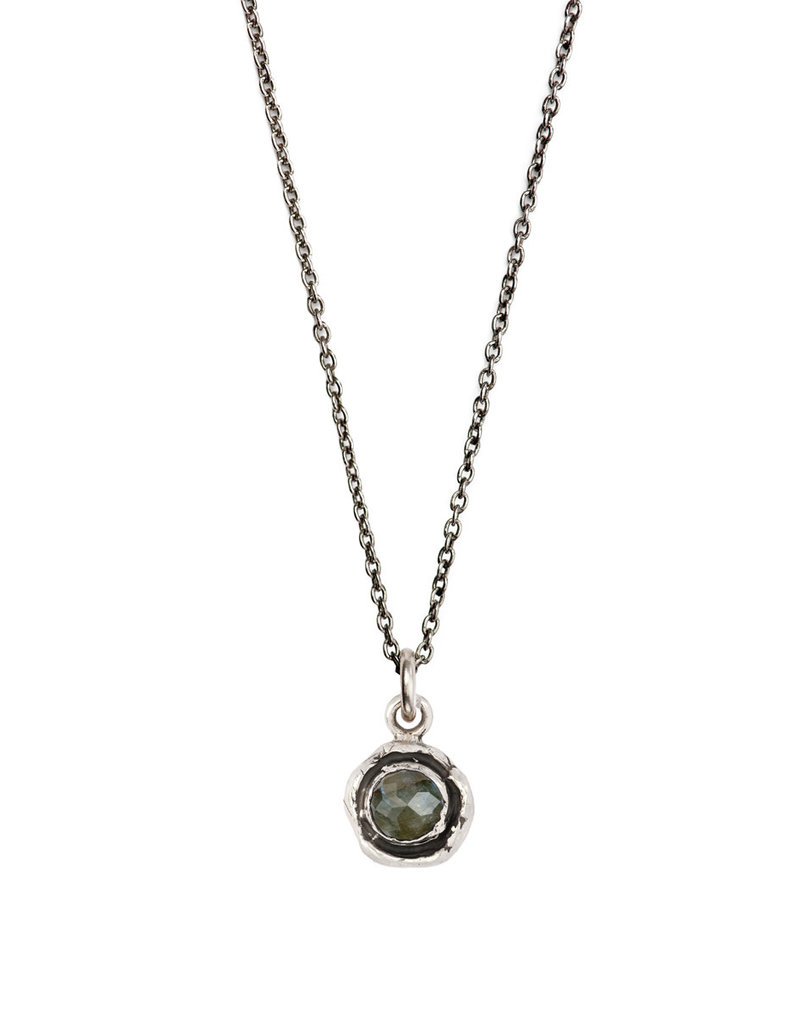 Pyrrha Pyrrha-Faceted Stone Necklace-Labradorite-SM