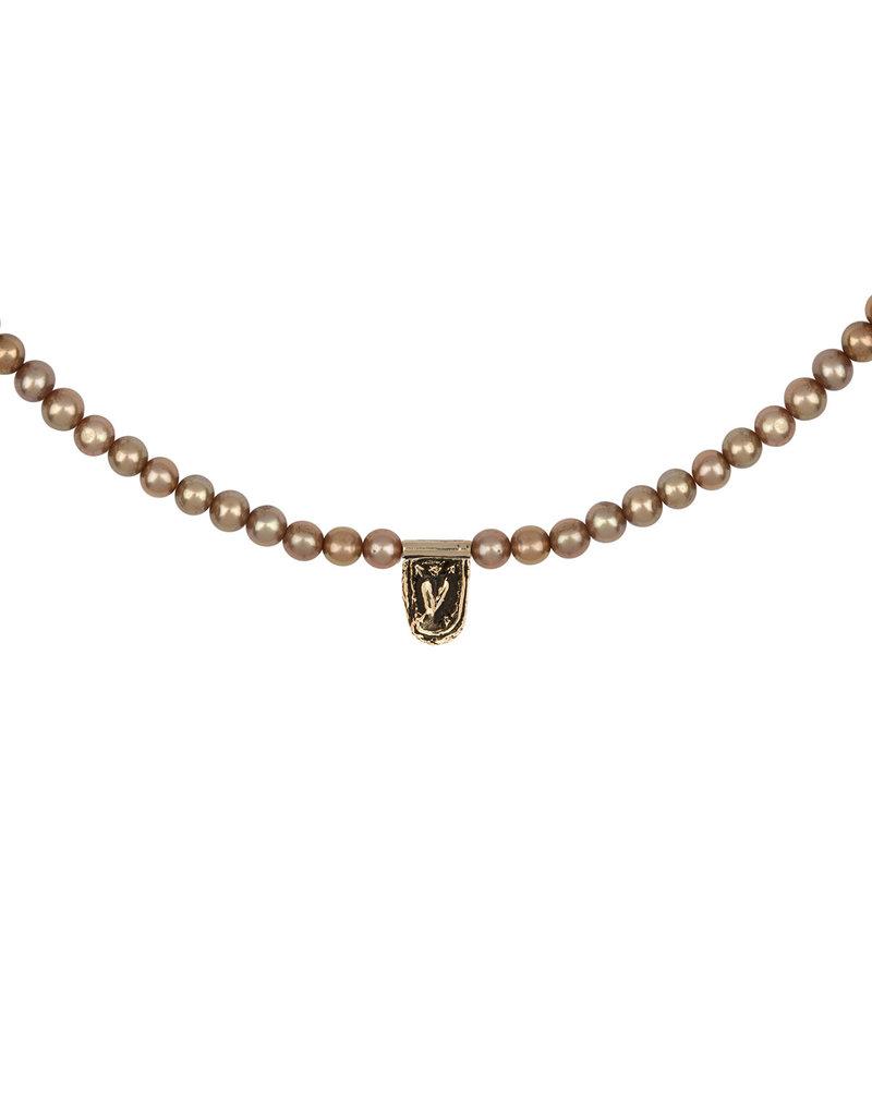 Pyrrha Pyrrha-Cupid's Arrows 14K Gold Freshwater Pearl Choker