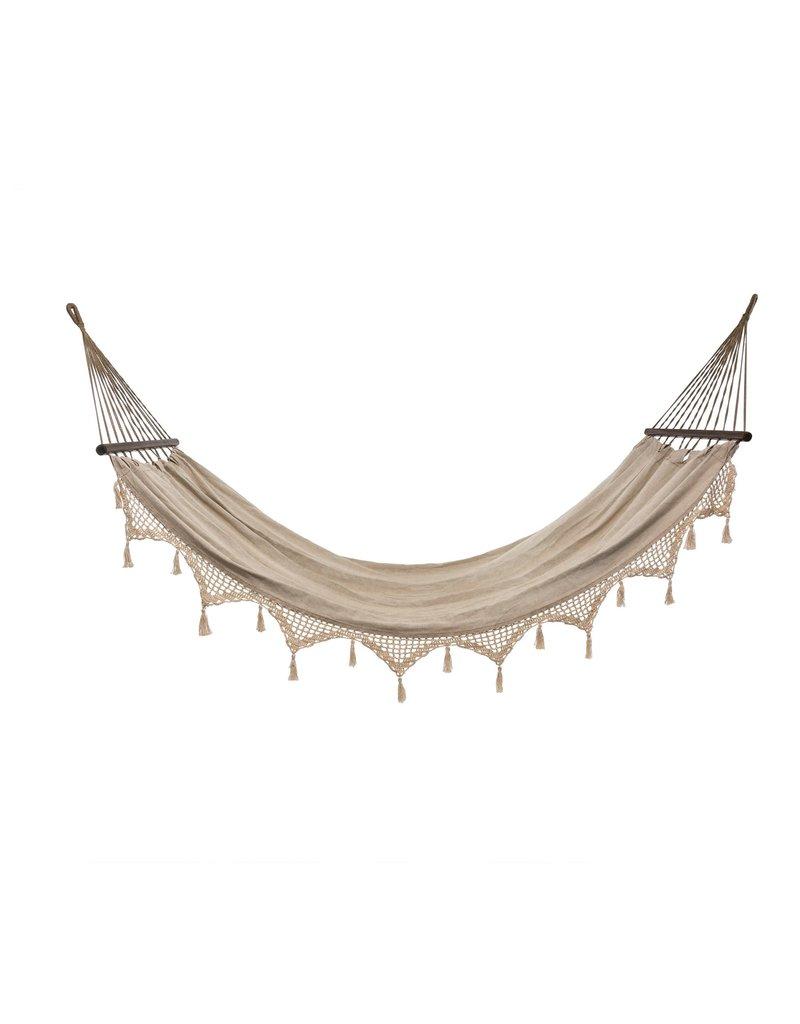 Indaba Trading Inc Crochet Tassel Hammock