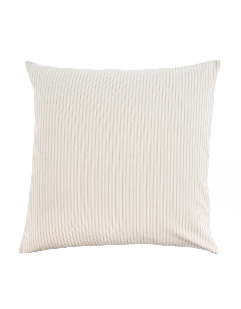 Indaba Trading Inc Ticking Cushion-Beige