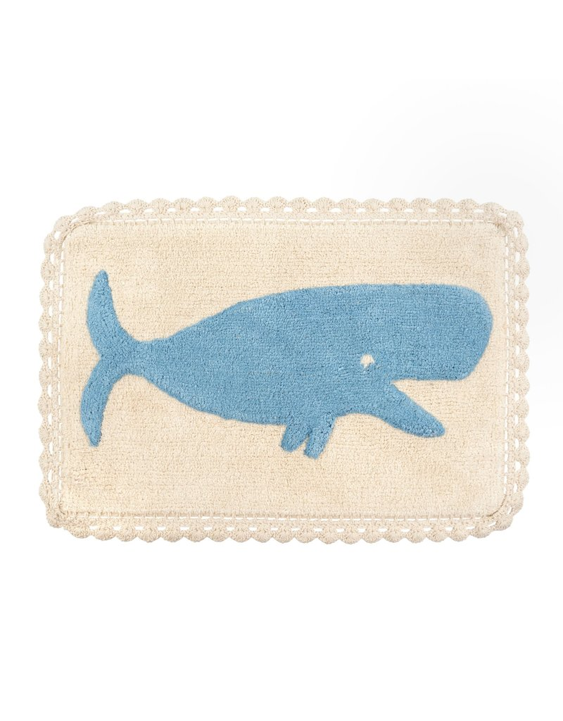 Indaba Trading Inc Whale Crochet Bath Mat