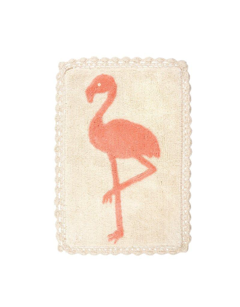 Indaba Trading Inc Flamingo Crochet Bath Mat