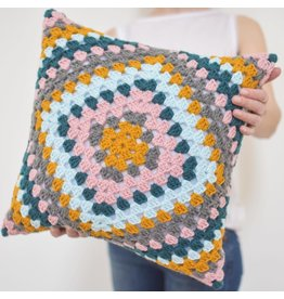 Logy Made Logy Made-Granny Square Pillow