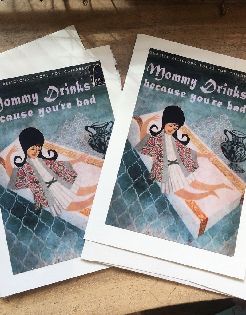 Art Bonavista Art Bonavista -Mommy Drinks-Card