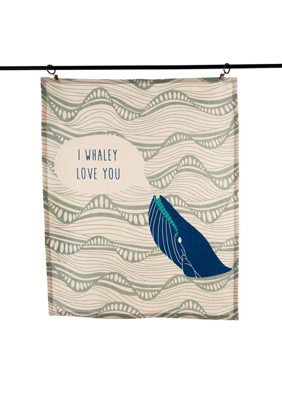 Indaba Trading Inc I Whaley Love You Tea Towels S/3