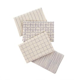 Indaba Trading Inc Dot & Doodle Tea Towels S/4-Purple