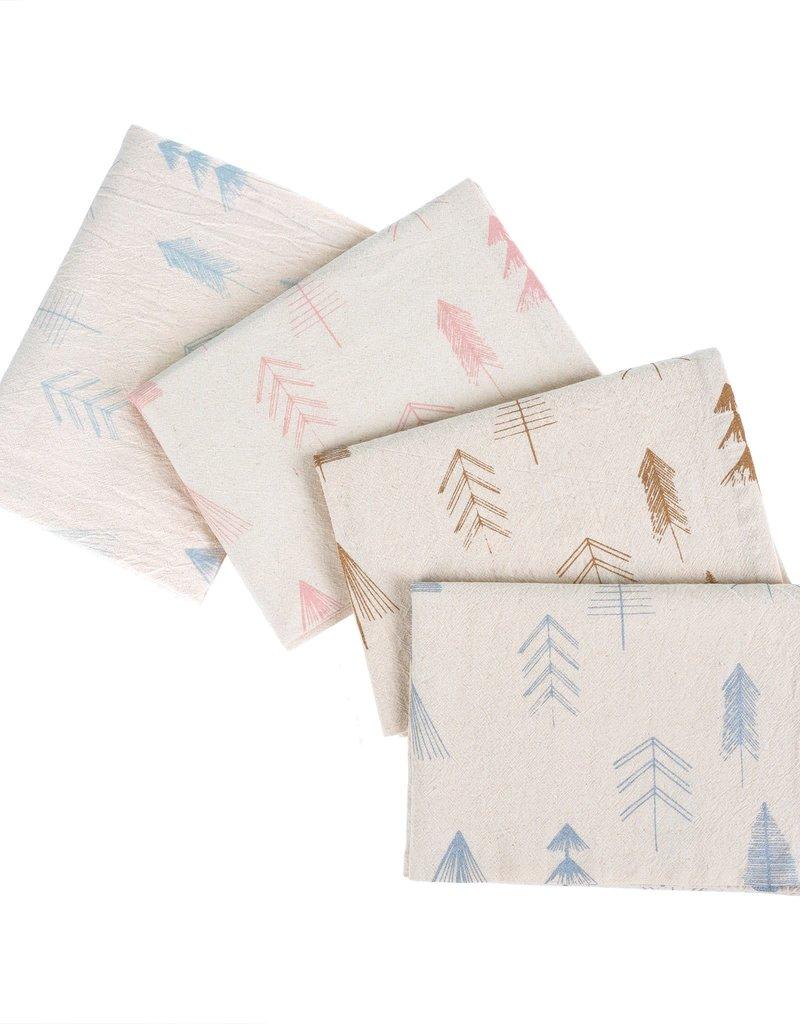 Indaba Trading Inc Festive Tree Tea Towels S/4