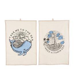 Indaba Trading Inc Vitamin Sea Tea Towels S/2