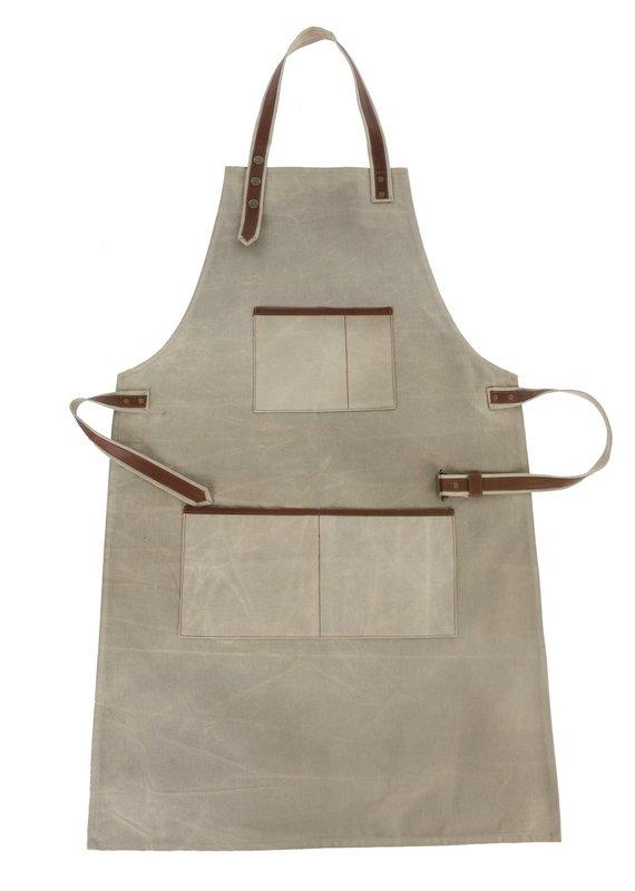 Indaba Trading Inc Canvas & Leather Apron-Natural