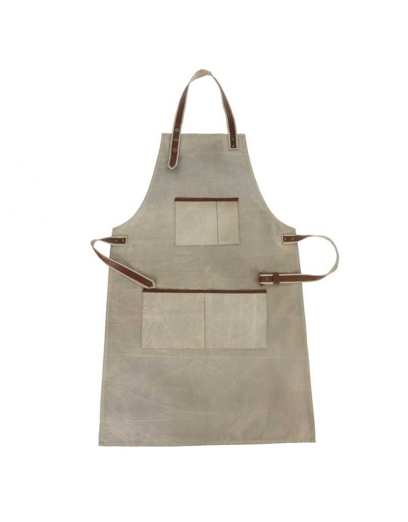 Indaba Trading Inc Canvas & Leather Apron-Natural