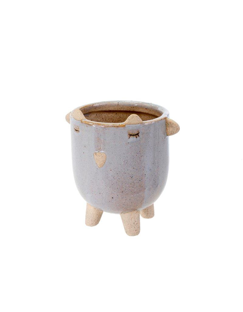 Indaba Trading Inc Little Lamb Pot-Lavender