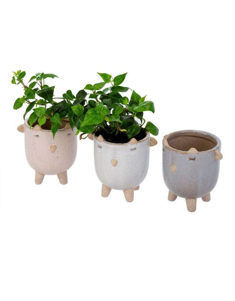 Indaba Trading Inc Little Lamb Pot-White