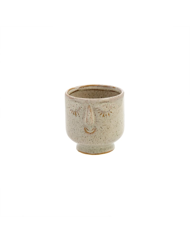 Indaba Trading Inc Friendly Face Pot-Small-Dune