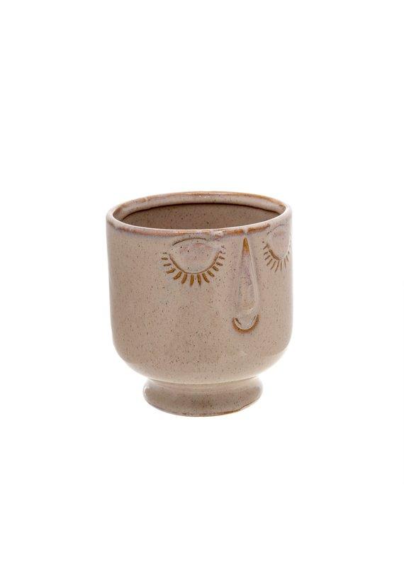 Indaba Trading Inc Friendly Face Pot-Large-Heather