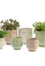 Indaba Trading Inc Friendly Face Pot-Large-Moss