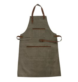 Indaba Trading Inc Canvas & Leather Apron-Green
