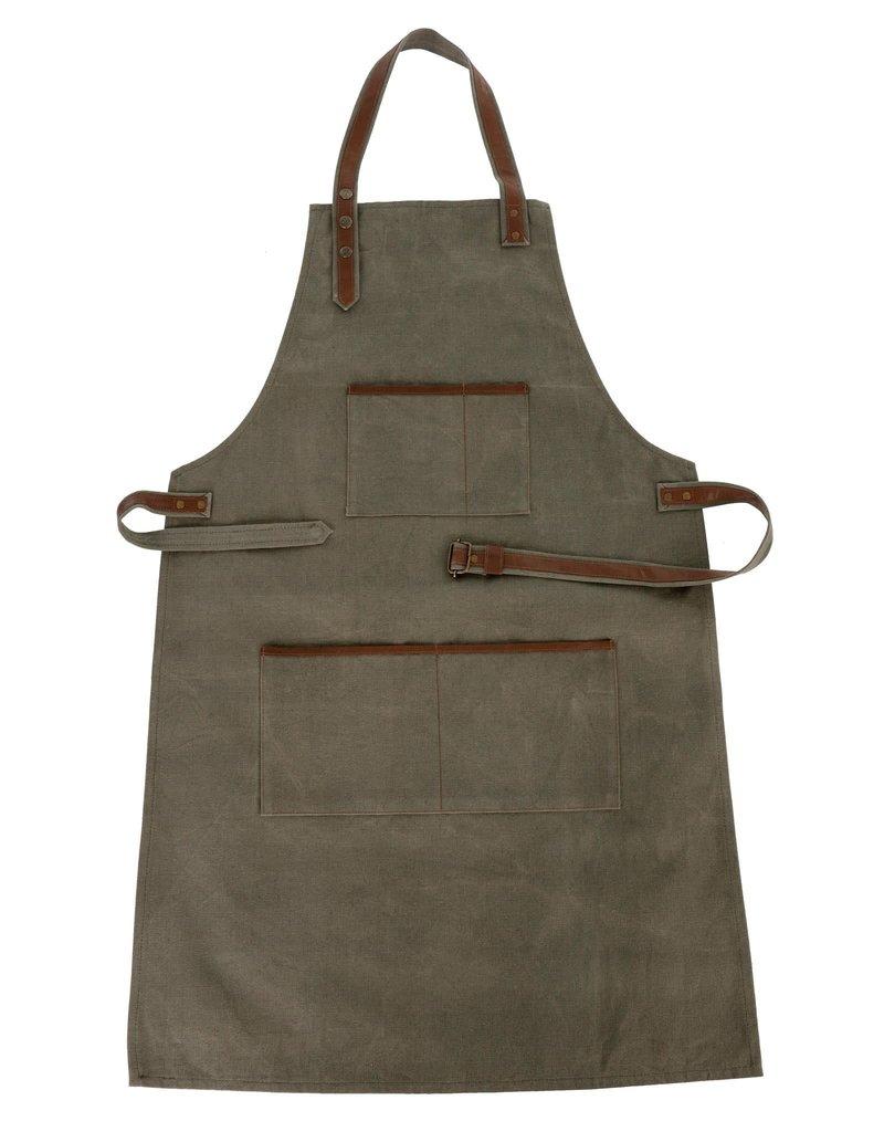 Indaba Trading Inc Canvas & Leather Apron-Green