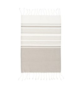 Indaba Trading Inc Turkish Hand Towels-Set of 4-Grey