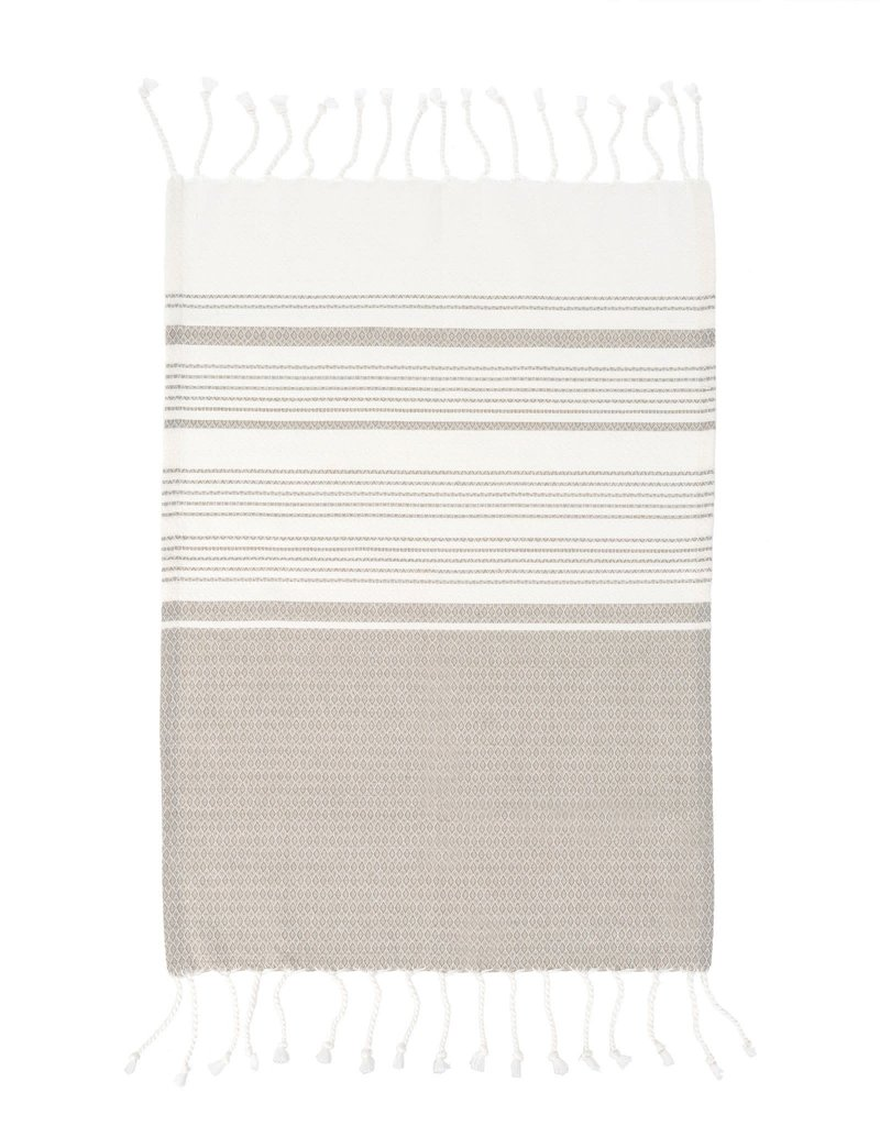 Indaba Trading Inc Turkish Hand Towels-Set of 4-Grey