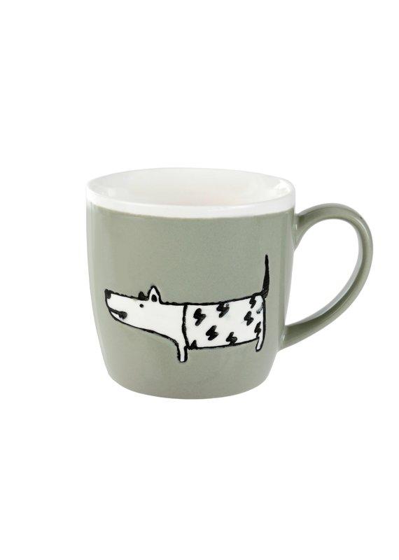 Indaba Trading Inc Dog Days Mug-Set of 2-Taupe & Sage