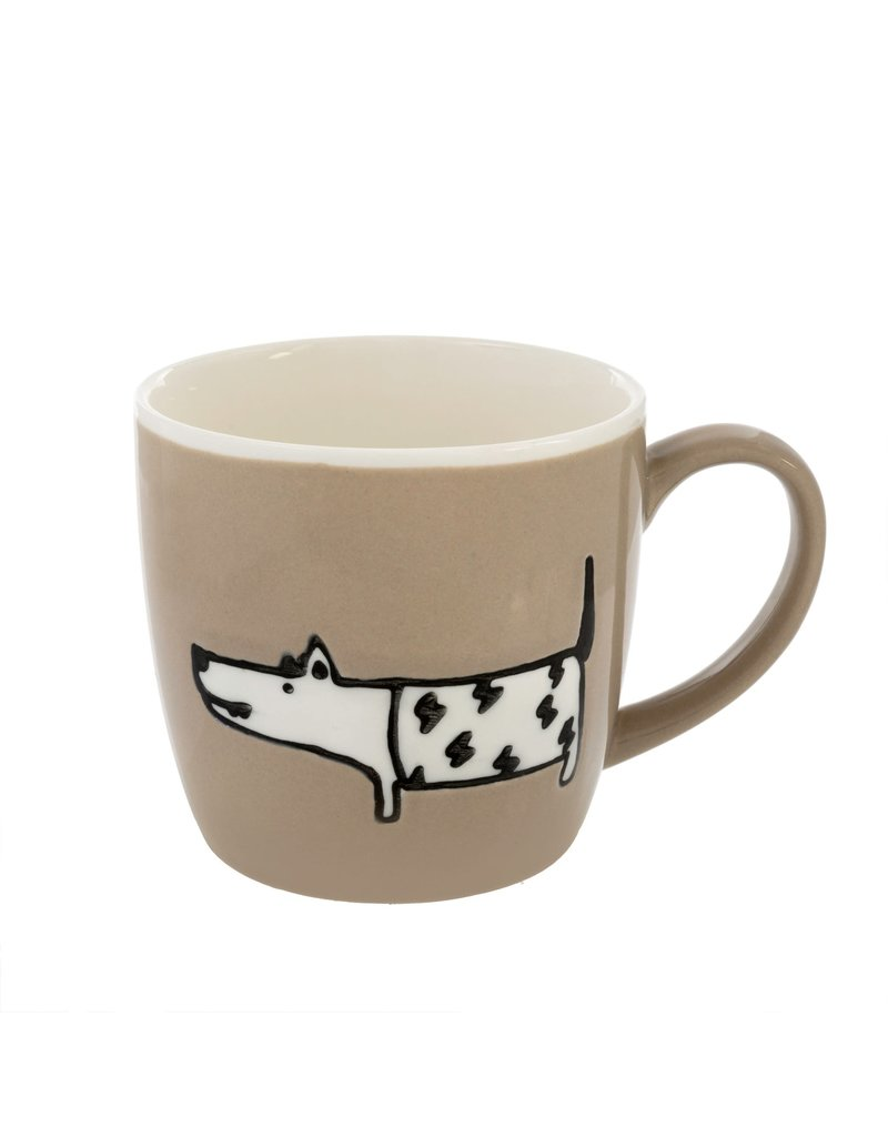 Indaba Trading Inc Dog Days Mug-Set of 2-Taupe & Sage