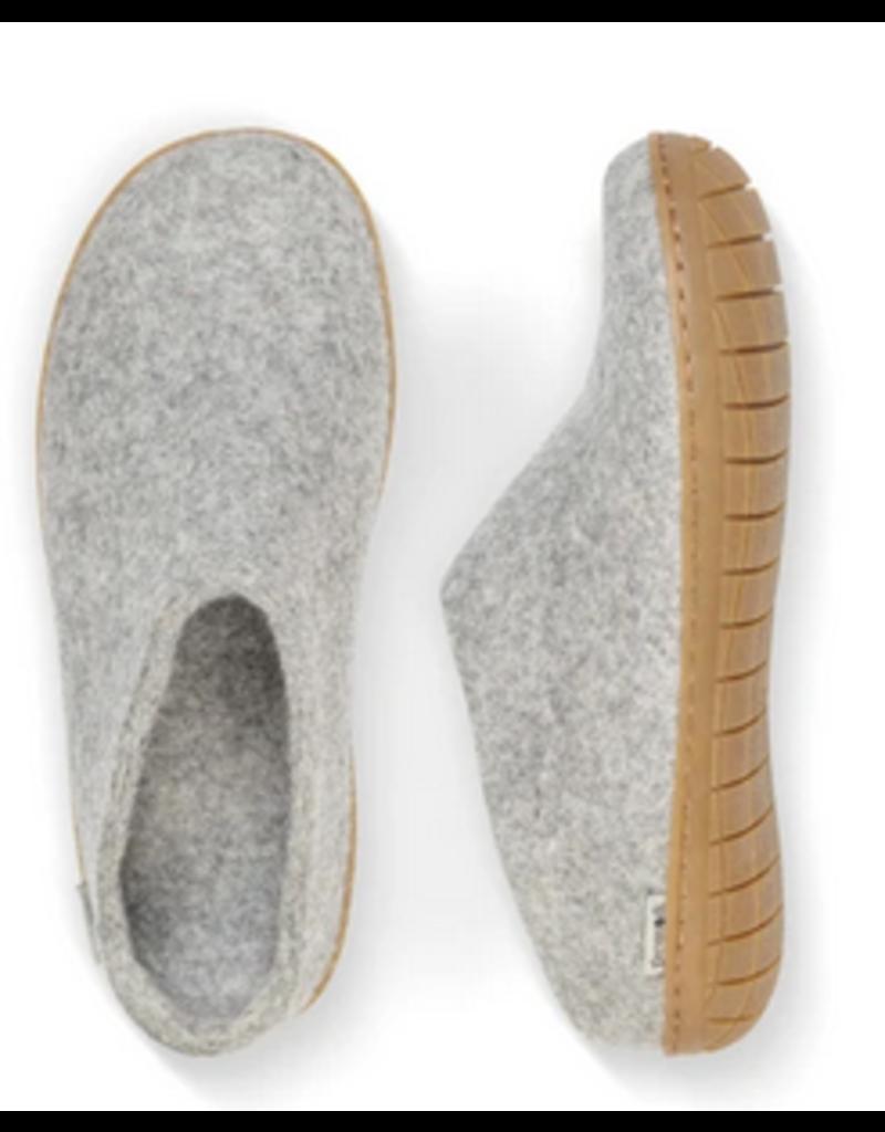 Glerups Glerups-Open Heel-Grey (Natural Rubber)