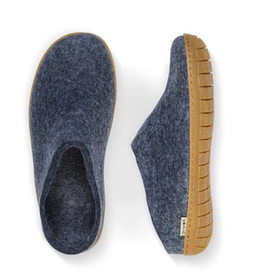 Glerups Glerups-Open Heel-Denim (Natural Rubber)