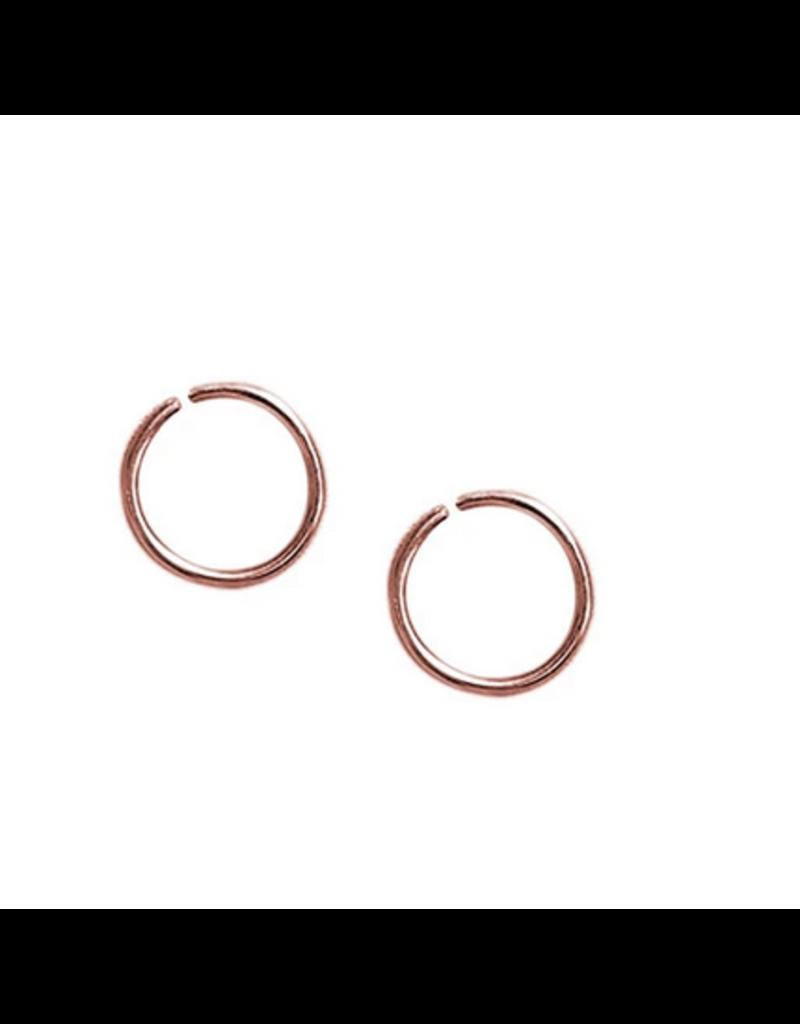 Strut Jewelry Strut-Sleeper Hoop-Rose Gold