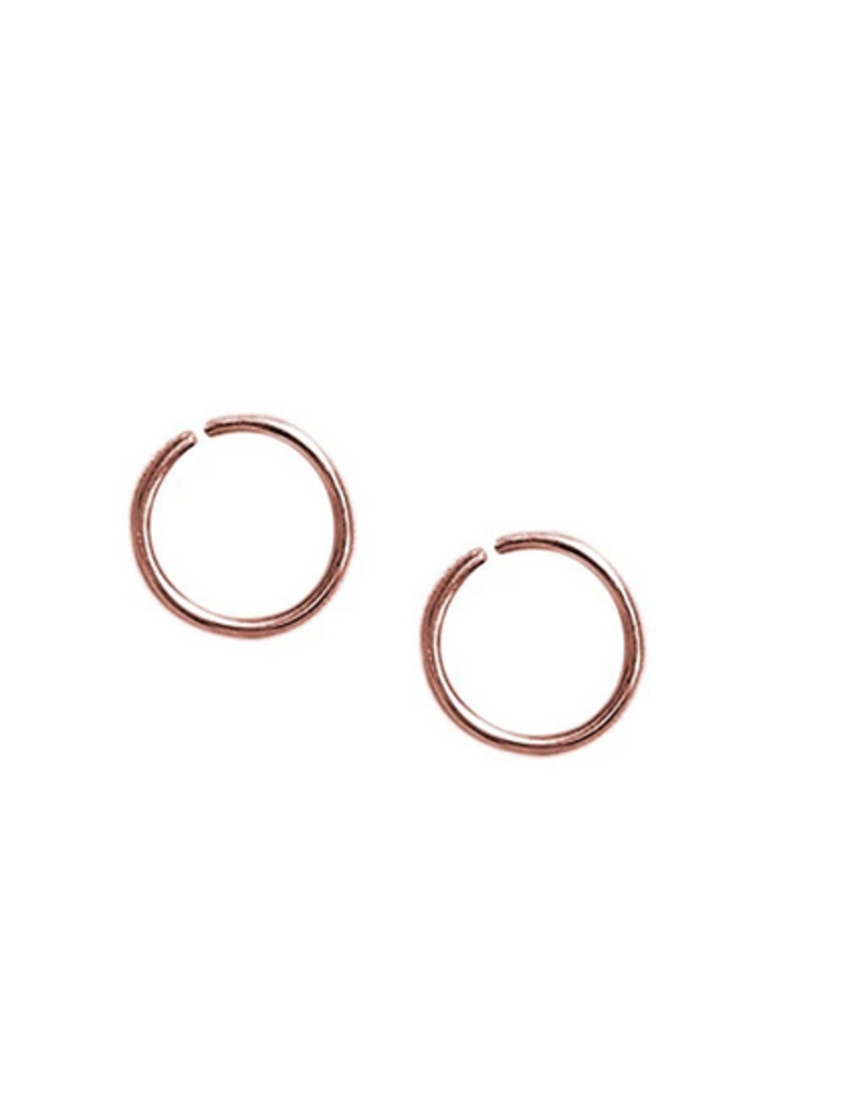Strut Jewelry Strut-Sleeper Hoop-Rose Gold