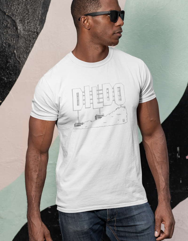 Twisted Sisters boutik Dildo T-Shirt-White-Unisex
