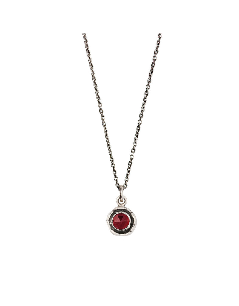 Pyrrha Pyrrha-Faceted Stone Necklace-Garnet-SM