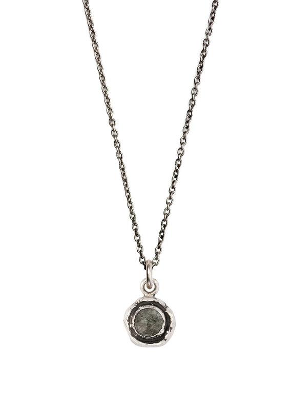 Pyrrha Pyrrha-Faceted Stone Necklace-Tourmalated Quartz-SM
