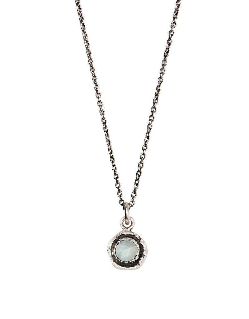 Pyrrha Pyrrha-Faceted Stone Necklace-Moonstone-SM