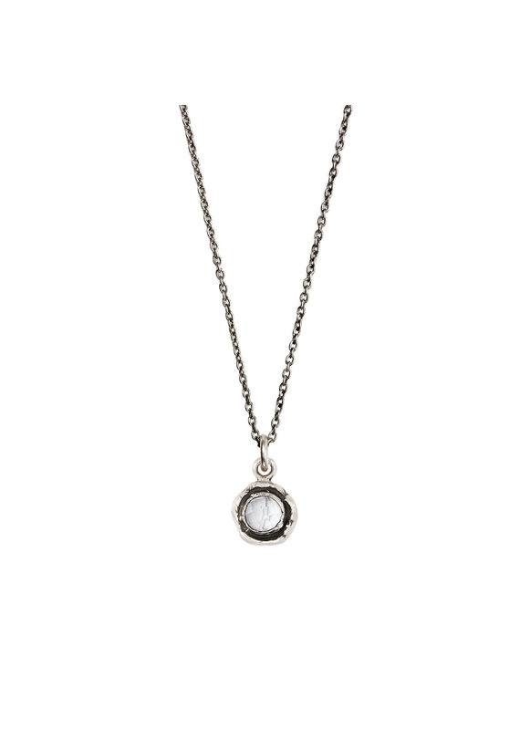 Pyrrha Pyrrha-Faceted Stone Necklace-Clear Quartz-SM