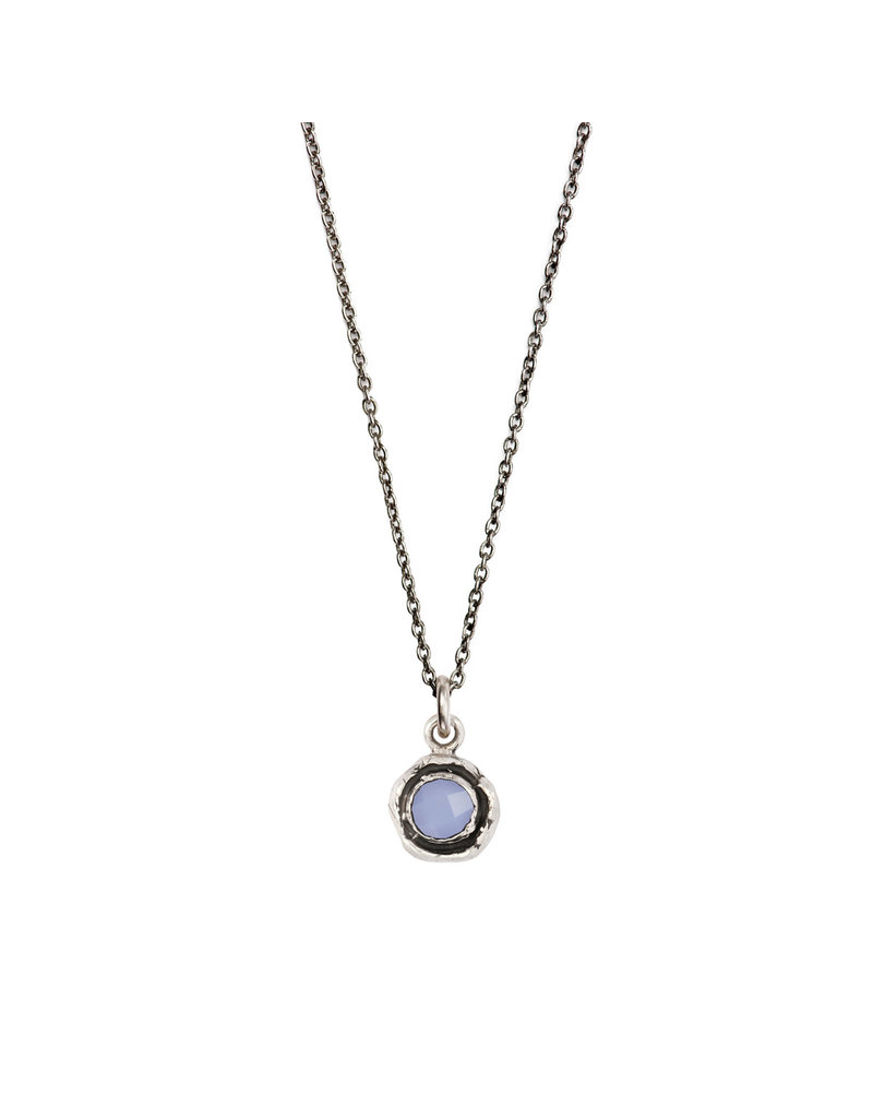 Pyrrha Pyrrha-Faceted Stone Necklace-Chalcedony-SM