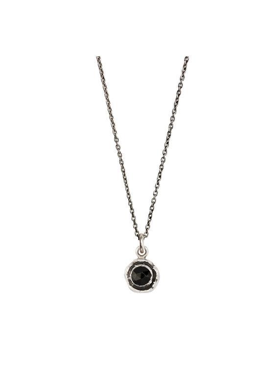 Pyrrha Pyrrha-Faceted Stone Necklace-Black Onyx-SM
